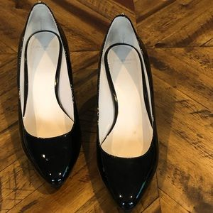 Cole Haan 8.5 Black Patent Leather Wedge Heels